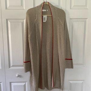 RD Style cardigan sweater tan/red M ❤️